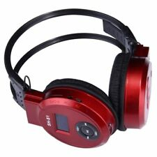 Sport MP3 Player LCD Foldable Wireless Headset Headphone FM Radio TF Card #Red