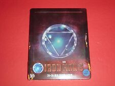 Iron Man 3 2D/3D Blu Ray Steelbook 1st Print 150 Copies Sold Out Edition Korea