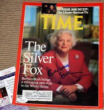 BARBARA BUSH Signed TIME Magazine *JSA COA - Jan 23, 1989 First Lady