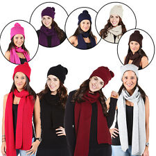 Ladies Hat Thermal Scarf Buy 1 Get 1 Free Womens Chunky Knitted Winter Knitwear