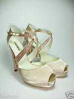 LUCIANO BARACHINI 4217B scarpe decoltè sandali donna strass gioiello tacco alto