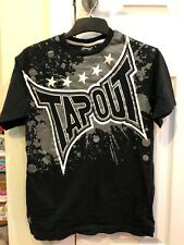 TAPOUT MENS SIZE SMALL BLACK GREY COTTON TSHIRT SKATER CASUAL HIPSTER