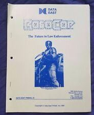 RoboCop 1989 Data East Pinball Manual