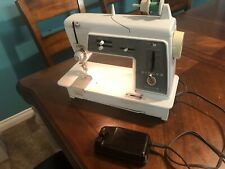 Vintage Singer Touch & Sew 600E Sewing Machine W/ Foot Pedal Works - All Metal