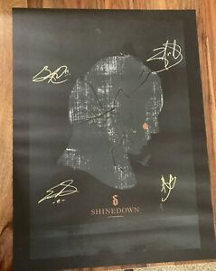 Shinedown RARE signed autographed lithograph