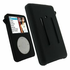 Black  Silicone Skin Cover Case For iPod Video 30GB Classic 80GB/120GB/160GB