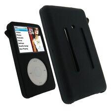 Black Rubber Silicone Skin Cover Case For iPod Video 30GB Classic 80GB/120GB/160