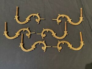 6 matching French vintage bronze chandelier arms