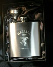 Fireball 6oz Stainless Steel Hip Flask, FREE ENGRAVING, Theme Gift