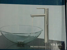 Pegasus Vessel Filler  Brushed Nickel single handle bath sink faucet 958-545L