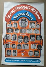 1970 NY Yankees Casey Stengel All Time Team Poster - w/ Mickey Mantle