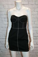 Luvalot Brand Black White Stitching Fitted Strapless Dress Size 10 BNWT #SP69
