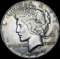 1934-S Peace Dollar Silver US Coin ----   Stunning ---- #W383