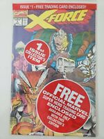 X-FORCE #1 (1991) MARVEL COMICS POLYBAGGED WITH CARD! SIGNED ROB LIEFELD COA!!!