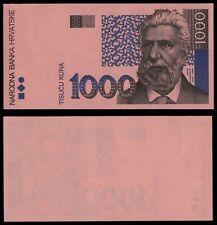 ZE.138} CROATIA 1000 kuna 1993 / Obverse trial print / UNC