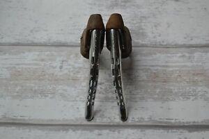 Vintage Formos Drop Bar Brake Levers with Brown Hoods - Pair