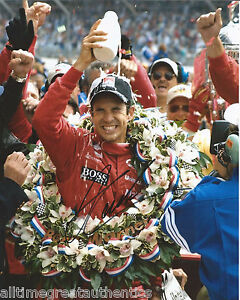 INDY CAR HELIO CASTRONEVES SIGNED 8X10 PHOTO INDIANAPOLIS 500 CHAMPION 3 W/COA