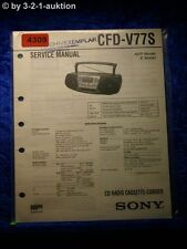 Sony Service Manual CFD V77S Cassette Corder (#4309)