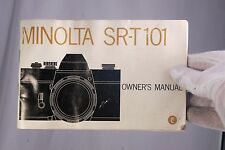 Minolta Camera SR-T 101 Owner's Guide Manual (EN) 7210053 poor condition