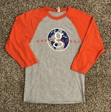 Garth Brooks Mens Raglan T-Shirt Small Orange Gray Spellout Graphic #17 Country