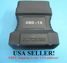 OBD2 OBDII Adapter Connector 16-Pin for OTC D730 & AUTOBOSS V30 Scanner 3100