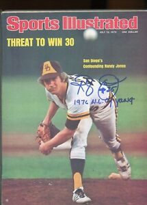 """RANDY JONES """"1976 N.L. CY YOUNG"""" SPORTS ILLUSTRATED signed autographed"""