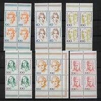 BRD 1433 1498 1755 1756 1955 1956 VB 6 x Frauen Viererblock ** #b899