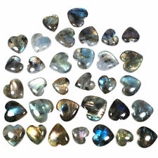 33 Pcs Natural Labradorite Heart Shape Flashy Untreated Huge Gemstones 23mm-32mm