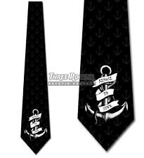 Anchor Tie Men's Inspirational Ties Refuse to Sink Necktie Nautical Ties