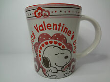 Peanuts Snoopy Red Happy Valentine's Day Tapered 16 Ounce Coffee Mug Cup