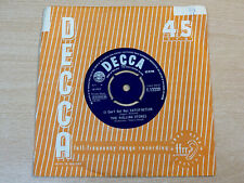 "The Rolling Stones/I Can't Get No Satisfaction/1963 Decca 7"" Single"