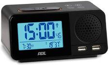 ADE Digitaler Radiowecker Funkuhr Thermometer Hygrometer Kalender DCF Zeitsignal