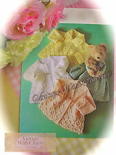 Vintage Knitting Pattern Baby's 3 Styles of Beautifully Stitched Matinee Coats