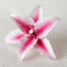 Single Stargazer Lily Pink Sugar flower wedding birthday cake decoration topper