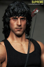 SUPREME 1/6 Scale Sylvest Stallone Rambo Head Sculpt For Hot Toys/Ganghood Body