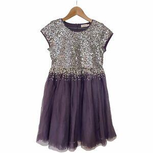 NWOT Mini Boden Purple Sequin Dress 11 - 12