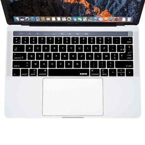 XSKN French AZERTY Layout Keyboard Cover Skin for Touchbar MacBook Pro 13.3/15.4