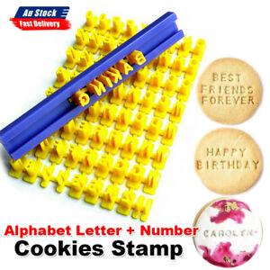 Fondant Cake Alphabet Letter Number Cookies Biscuit Stamp Mold Embosser Cutter