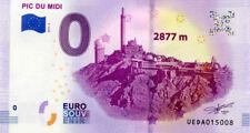 65 LA MONGIE Pic du Midi 2, 2877 m, 2019, Billet 0 € Souvenir