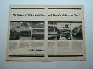 1964 AUTOLITE (Ford) Spark Plug's vintage '64 ad from private estate collection