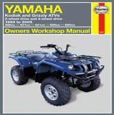 Haynes Repair Manual 2567 Yamaha Kodiak and Grizzly ATVs 2 4WD (1993-2005) M2567