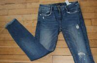 ZARA Jeans pour Femme W 26 - L 30 Taille Fr 36  (Réf #V009)