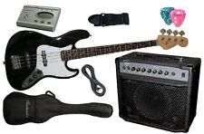 E-Bassgitarre Set mit 40W Verstärker. NEU! Inkl. Tasche, Gurt & Pleks in schwarz
