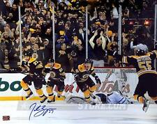 Patrice Bergeron Boston Bruins Signed Autographed Comeback Celebration 8x10
