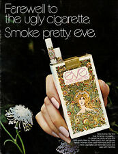 1971 vintage tobacco AD EVE Filter Feminine Cigarettes , Very 60s Art 050519