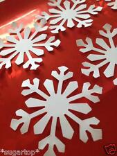 20 x SNOWFLAKES / Large CUT White - Card Making Die Cut Craft CHRISTMAS - FROZEN