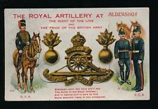 Hants Hampshire ALDERSHOT Royal Artillery Military Novelty 1915 PPC Valentine
