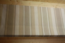 Roman Blind, Laura Ashley Awning Stripe Natural Fabric  (Made to measure)