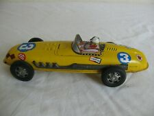 Vintage SKK ?? Japan Tin Lithograph Friction Drive #3 Race Car