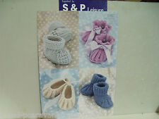 Sirdar Snuggly 4 Ply Pattern 1487 Shoes and Bootees